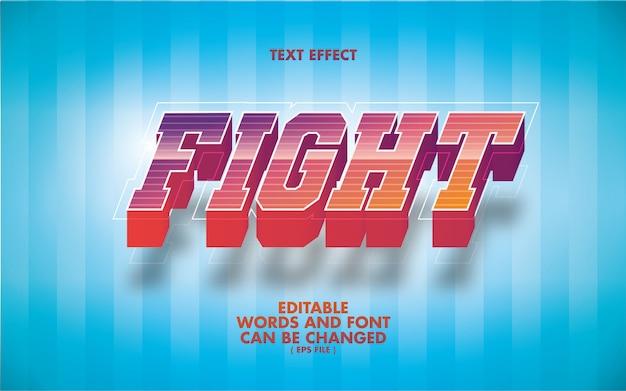 Efeito de texto fight palavras editáveis