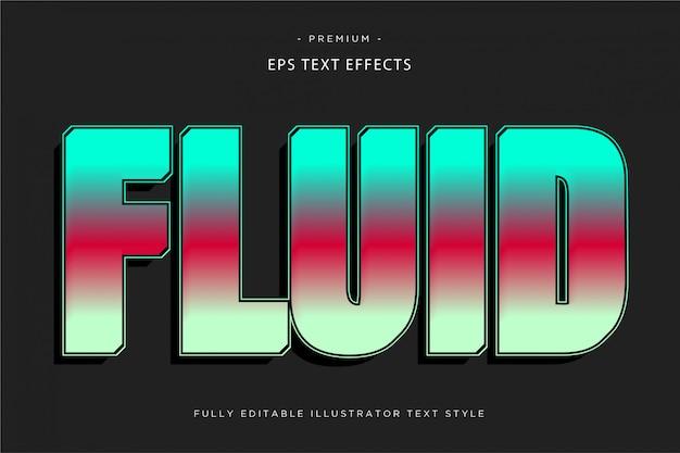 Efeito de texto fluido estilo de texto fluido
