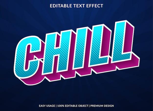 Efeito de texto frio com estilo retrô em negrito