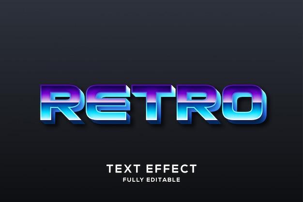 Efeito de texto futurista retrô