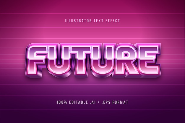 Efeito de texto futuro brilhante