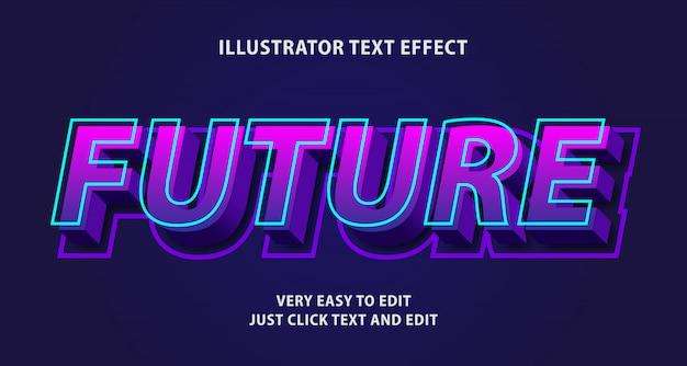 Efeito de texto futuro, texto editável
