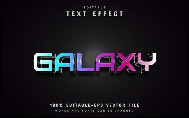 Efeito de texto galáxia 3d