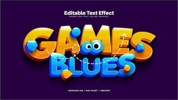 Efeito de texto games blues