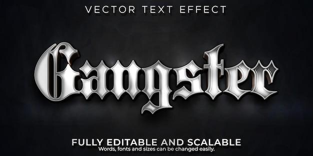 Efeito de texto gangster