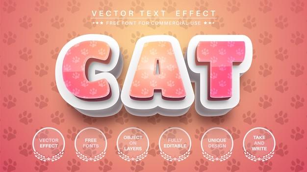 Efeito de texto gato 3d