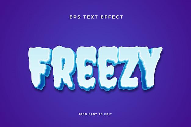 Efeito de texto gelo frio congelante
