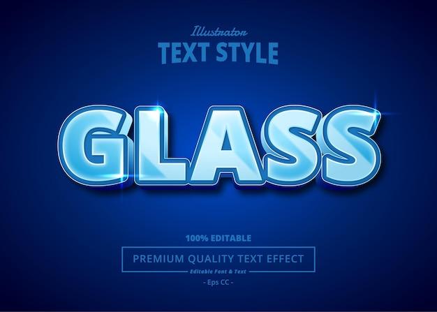 Efeito de texto glass illustrator