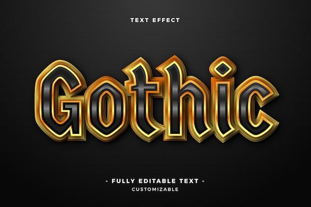 Efeito de texto gótico brilhante