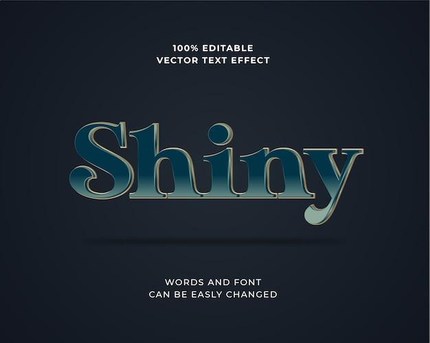 Efeito de texto gradiente azul escuro 3d editável