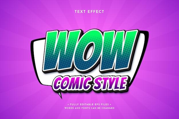 Efeito de texto gradiente em quadrinhos coloridos