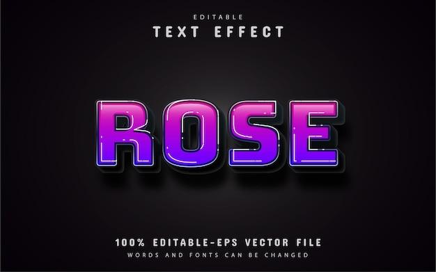 Efeito de texto gradiente rosa roxo