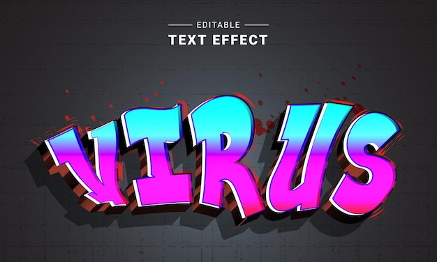 Efeito de texto graffiti editável para ilustrador