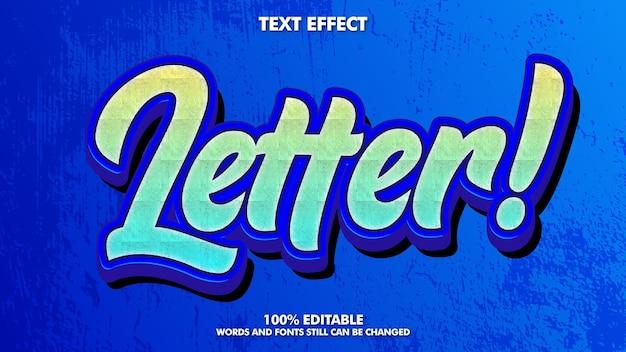 Efeito de texto grafite moderno com grunge