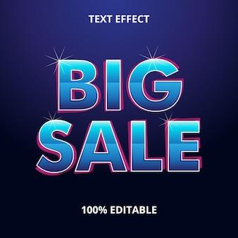 Efeito de texto grande venda premium eps
