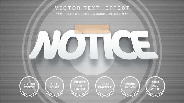 Efeito de texto gravado, estilo de fonte