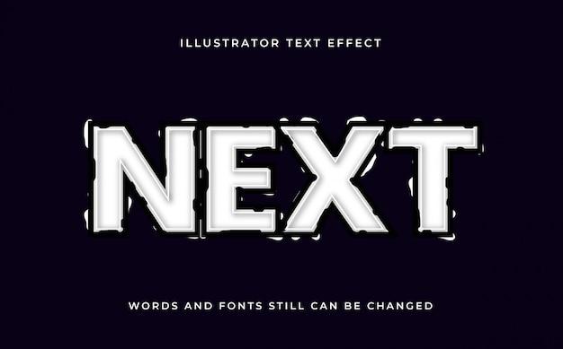 Efeito de texto grunge editável em preto e branco