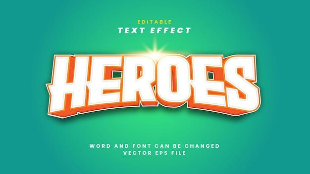 Efeito de texto heroes