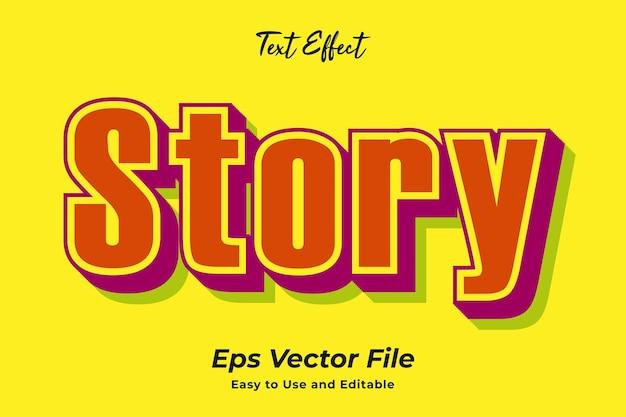 Efeito de texto história editável e fácil de usar vetor premium