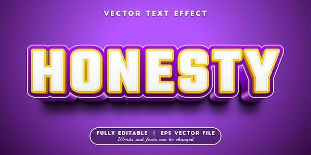 Efeito de texto honesto com estilo de texto editável