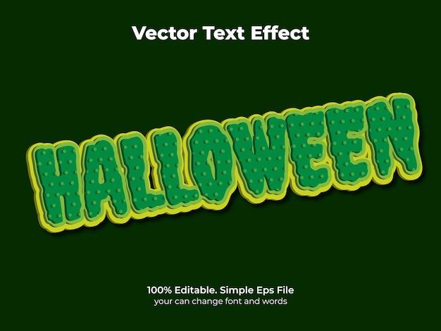Efeito de texto horor noite editável e estilo de texto assustador
