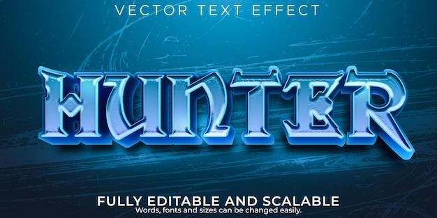 Efeito de texto hunter, estilo de texto viking e guerreiro editável