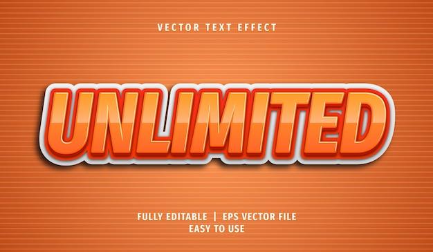 Efeito de texto ilimitado, estilo de texto editável