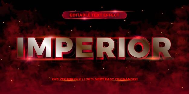Efeito de texto imperior cor vermelha editável
