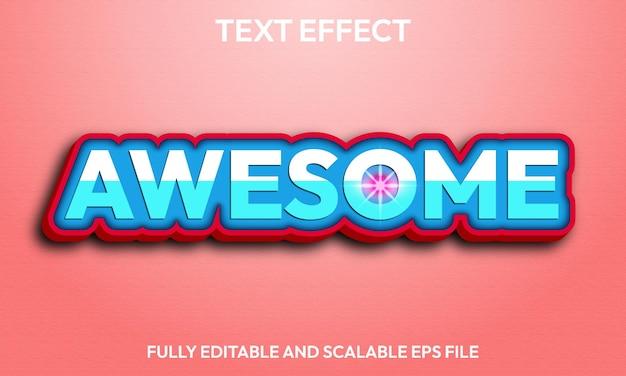 Efeito de texto incrível totalmente editável