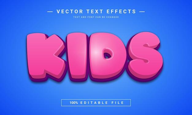 Efeito de texto infantil editável em 3d