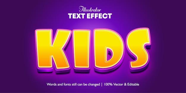 Efeito de texto infantil estilo desenho animado