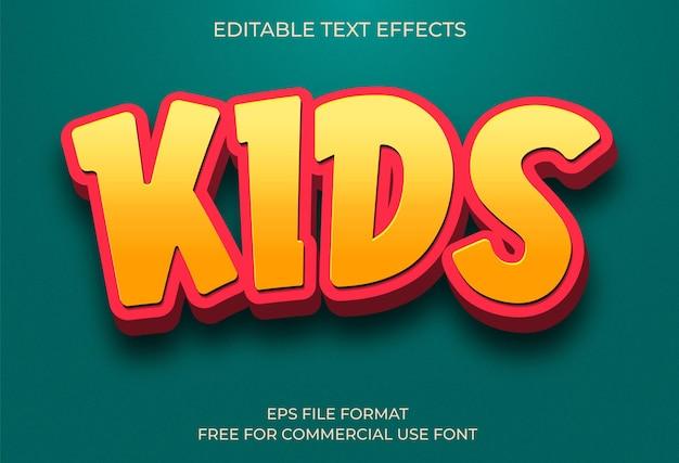 Efeito de texto infantil