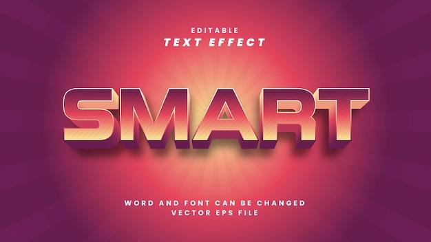 Efeito de texto inteligente