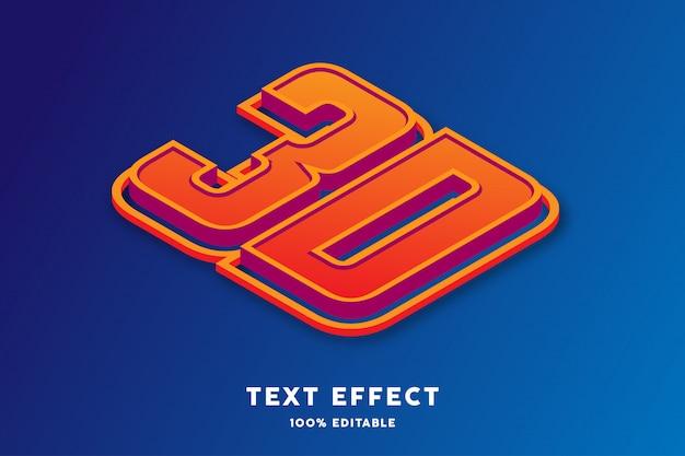 Efeito de texto isométrico 3d, texto editável