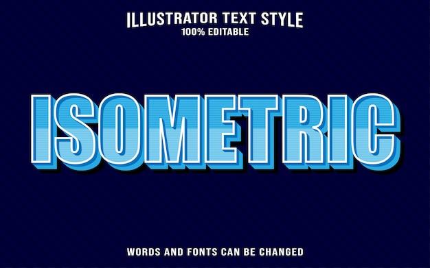 Efeito de texto isométrico