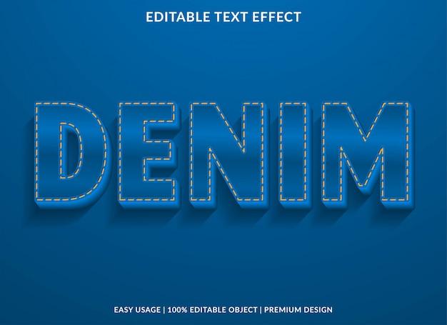 Efeito de texto jeans azul