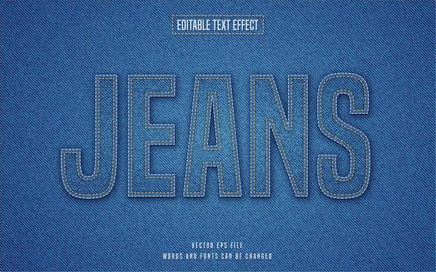 Efeito de texto jeans