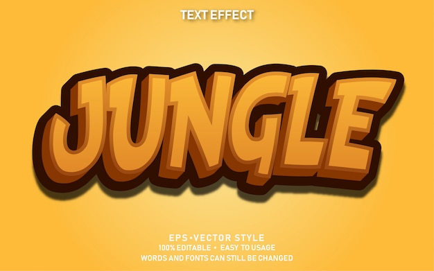 Efeito de texto jungle