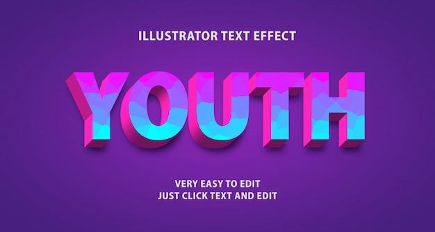 Efeito de texto juvenil, texto editável