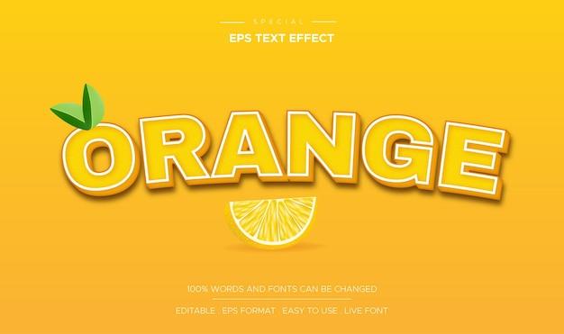 Efeito de texto laranja com cor amarela