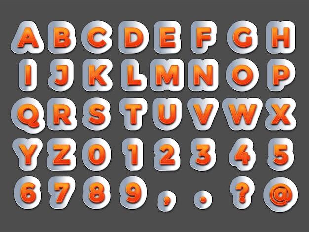 Efeito de texto laranja e aço vector grátis