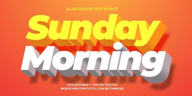 Efeito de texto laranja e branco claro limpo