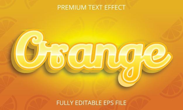 Efeito de texto laranja totalmente editável