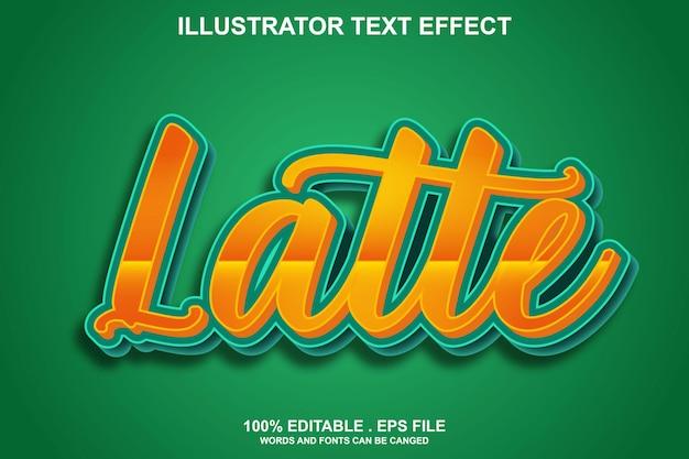 Efeito de texto latte editável