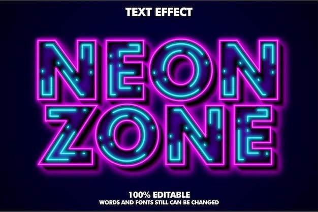 Efeito de texto legal de luz de neon