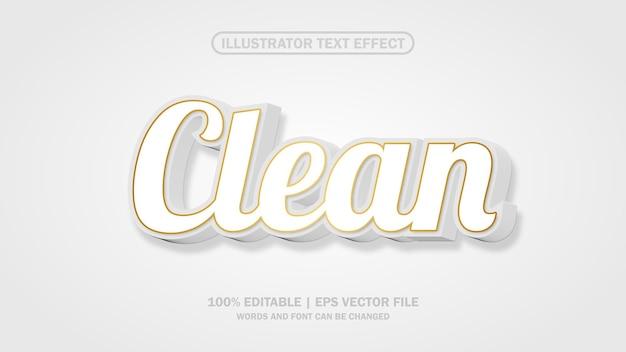 Efeito de texto limpo arquivo eps editável