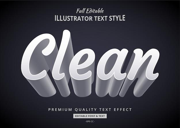 Efeito de texto limpo com sombra longa