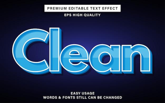Efeito de texto limpo