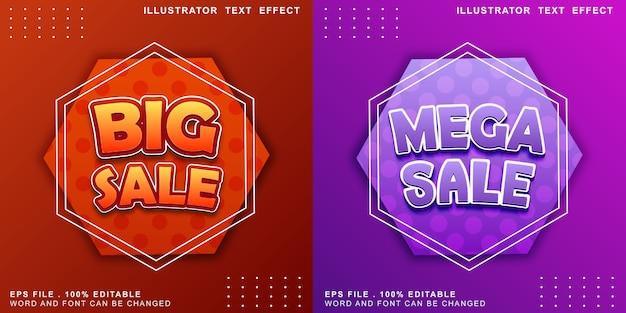 Efeito de texto logotipo editável banner mega venda