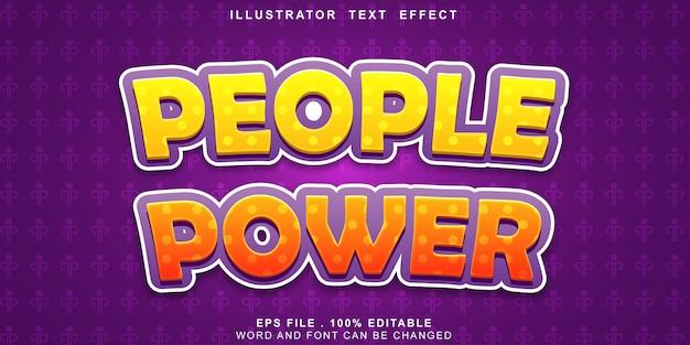 Efeito de texto logotipo poder de pessoas editáveis